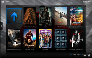 kodi favorites